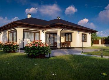 OT-139 házterv 139 m2 terasz